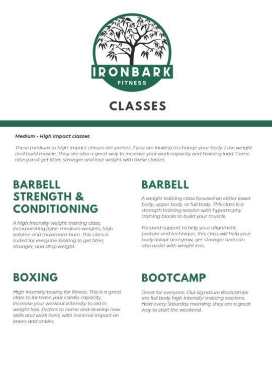 IronBark supplied information